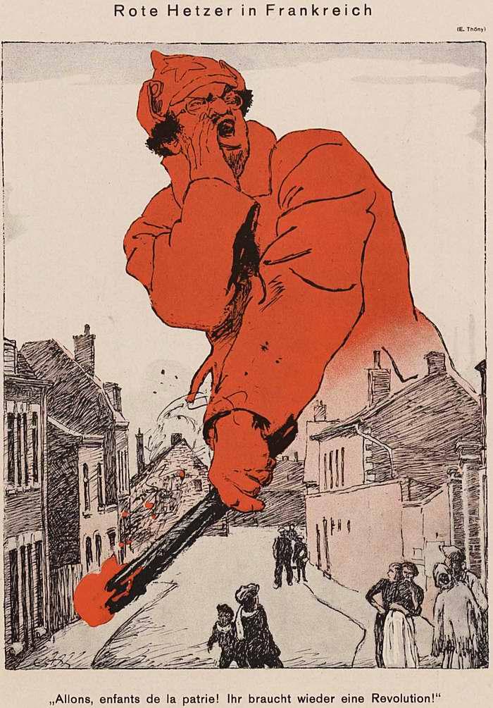 Красный подстрекатель во Франции (Simplicissimus)