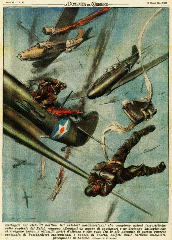 Сражения в небе над Берлином - Walter Molino