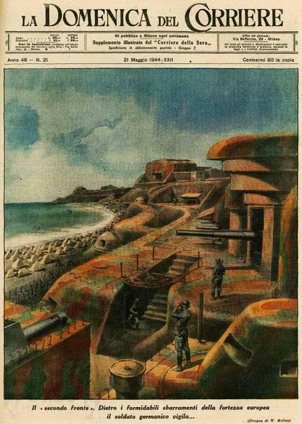 Второй фронт. Серьезным препятствием для начала его открытия в Европе являются мощные прибрежные оборонительные укрепления - Walter Molino