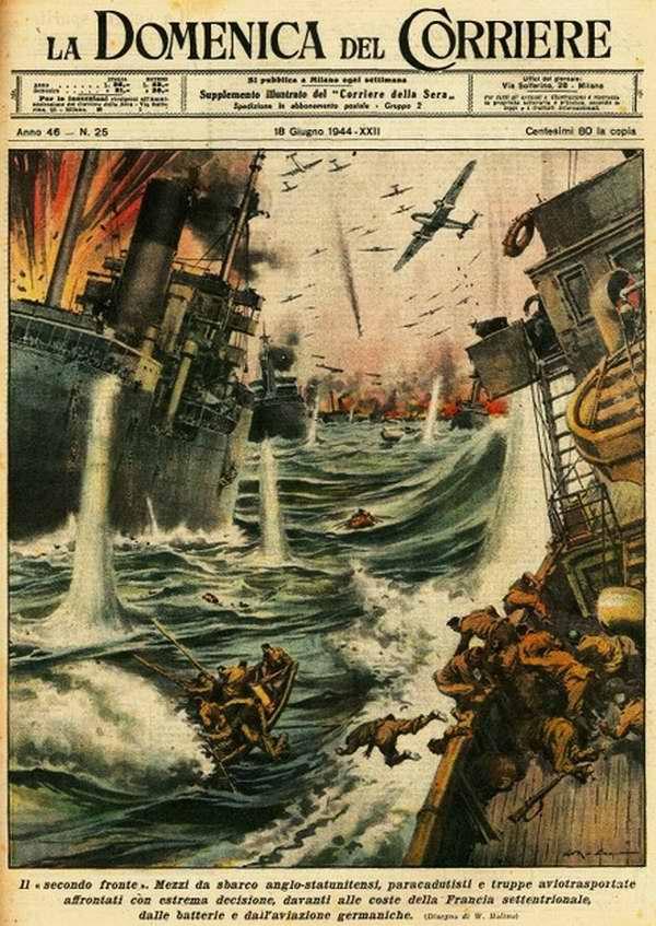 Десантные силы были отправлены на англо-американских десантных кораблях к северному побережью Франции - Walter Molino