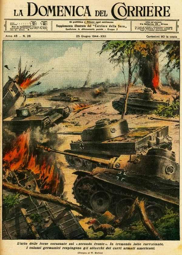 Столкновение бронетанковых сил на втором фронте - Walter Molino