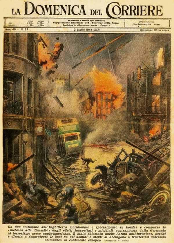 В течение двух недель Южная Англия и особенно Лондон стали подвергаться ракетным атакам со стороны Германии - Walter Molino