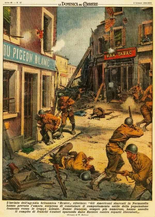 Британское информационное агентство Рейтер сообщает, что американцы высадились в Нормандии - Walter Molino