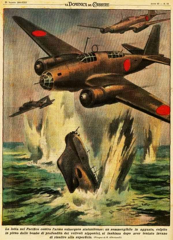 Охота за подводным флотом США в Тихом океане - Walter Molino