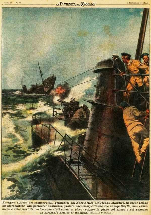 Активное возобновление действий немецких подводных лодок в Северном Ледовитом до Атлантическом океане - Walter Molino
