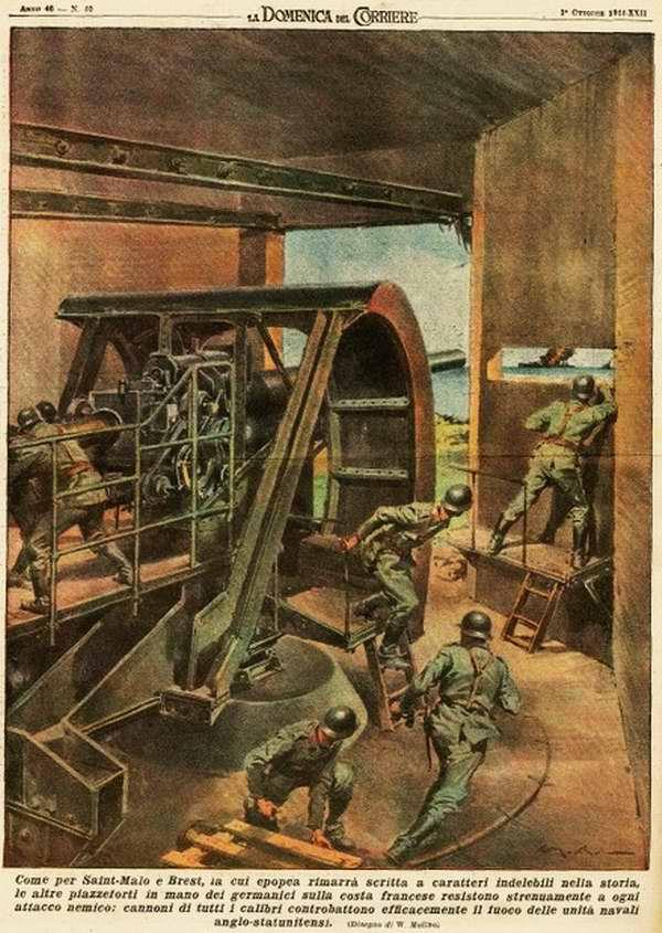 Опорные пункты немцких войск на французском побережье, которые решительно противостояли воздействиям вражеских корабельных орудий - Walter Molino