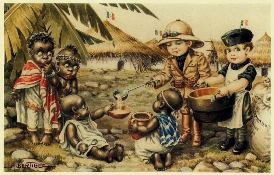 Дети в италии открытка, про