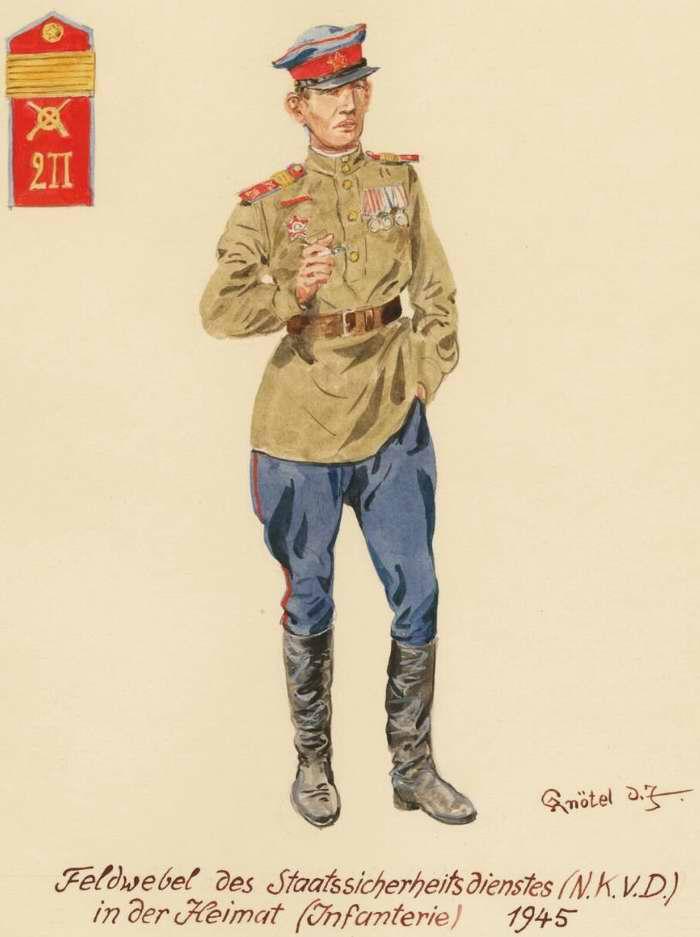 Старший сержант государственной безопасности (НКВД) - 1945 г. (Herbert Knotel)