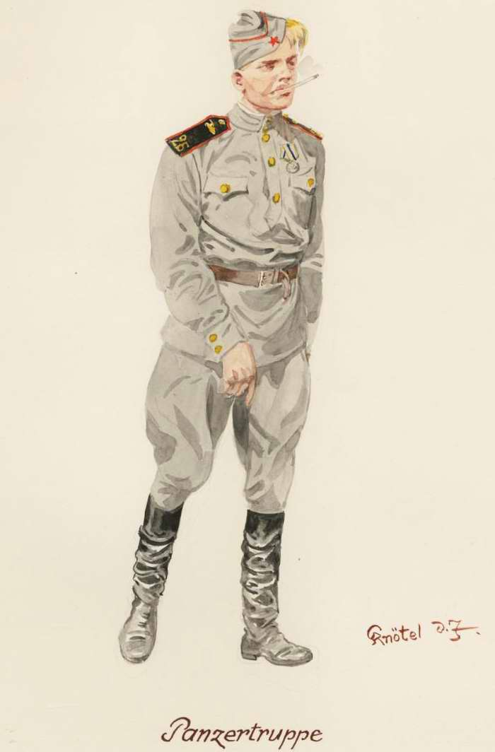 Танкист, рядовой солдат - 1945 г. (Herbert Knotel)
