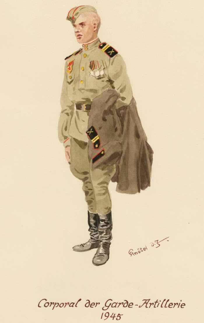 Младший сержант, артиллерист - 1945 г. (Herbert Knotel)