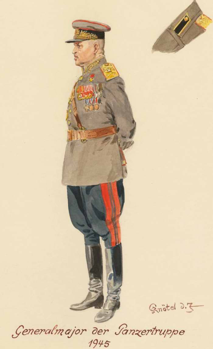 Генерал-майор танковых войск - 1945 г. (Herbert Knotel)