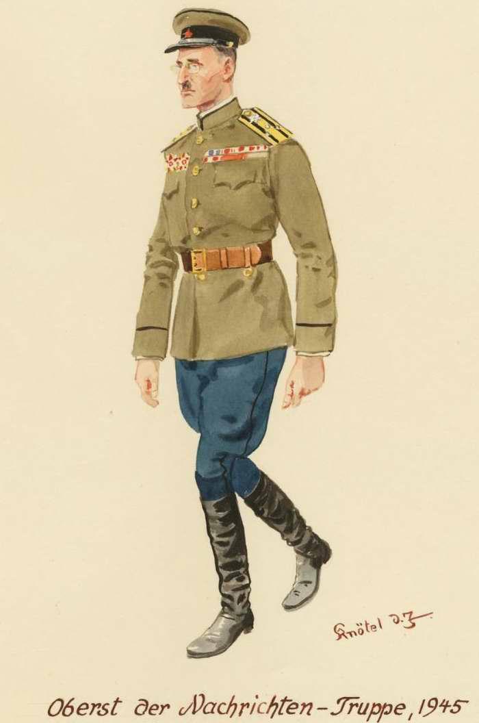 Полковник из войск связи - 1945 г. (Herbert Knotel)