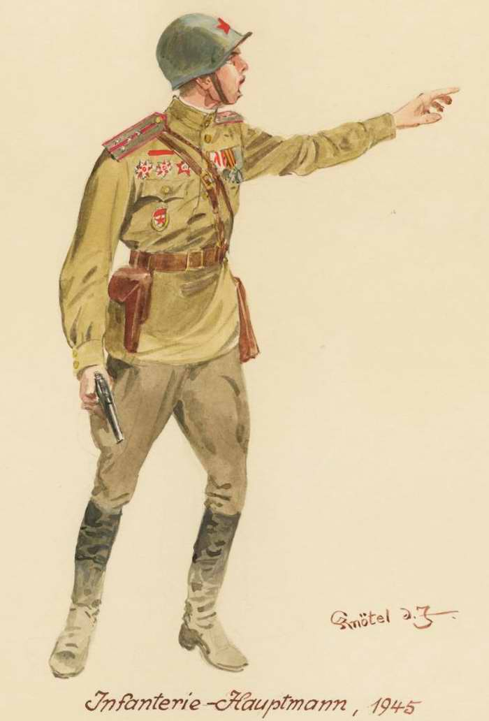 Капитан, пехотинец - 1945 г. (Herbert Knotel)