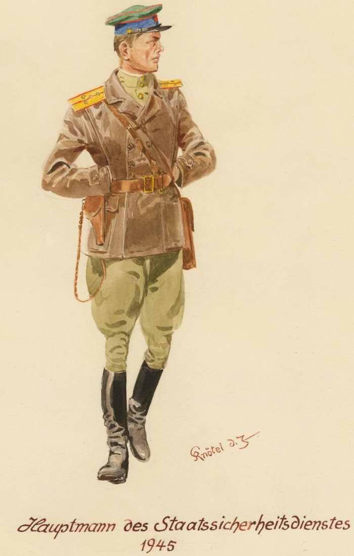 Капитан Народного Комиссариата Госбезопасности  - 1945 г. (Herbert Knotel)