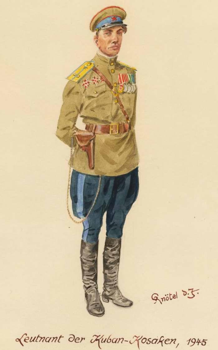 Лейтенант из кавалерийского подразделения кубанских казаков - 1945 г. (Herbert Knotel)