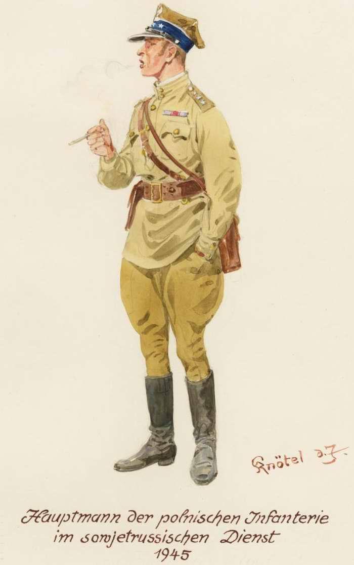 Капитан из польской пехотной части в составе войск Советской Армии - 1945 г. (Herbert Knotel)