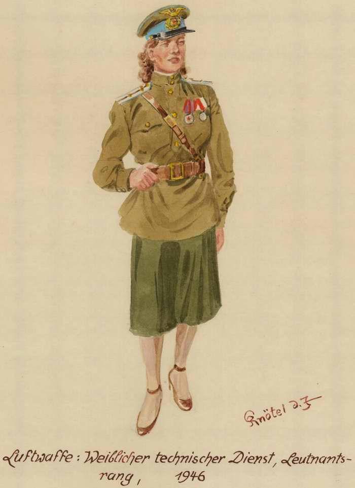 Девушка в звании лейтенанта из состава наземной технической службы ВВС - 1946 г. (Herbert Knotel)