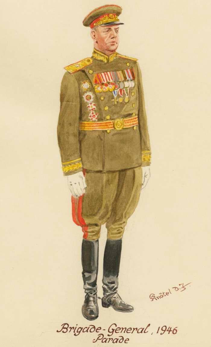 Генерал-майор в парадной форме одежды - 1946 г. (Herbert Knotel)