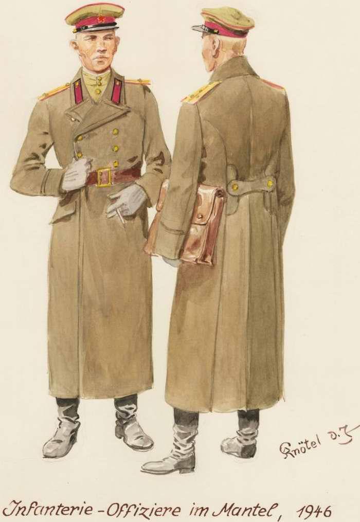 Пехотные офицеры в в шинелях - 1946 г. (Herbert Knotel)