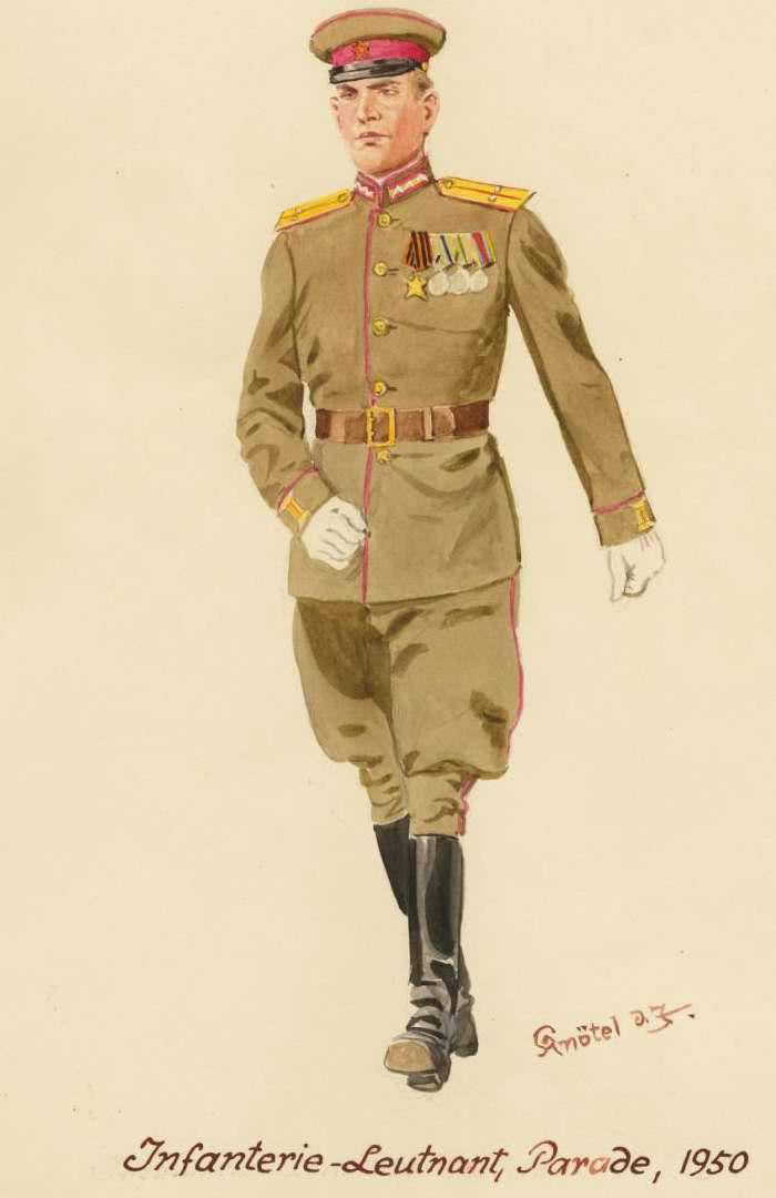 Лейтенант пехоты в парадной форме одежды - 1950 г. (Herbert Knotel)