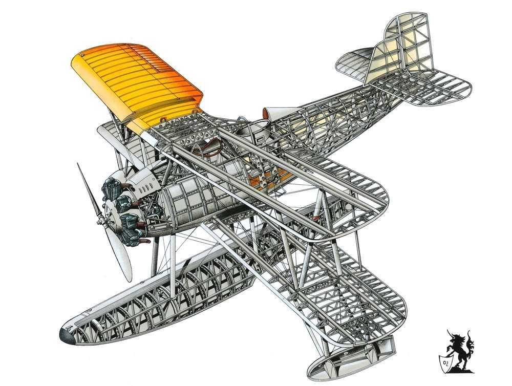 Vought O2U-1 Corsair - разведывательный гидроплан, 1926 год (США)