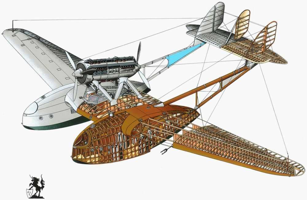 Savoia-Marchetti S.55X - гидросамолет-разведчик, бомбардировщик, 1926 год (Италия)