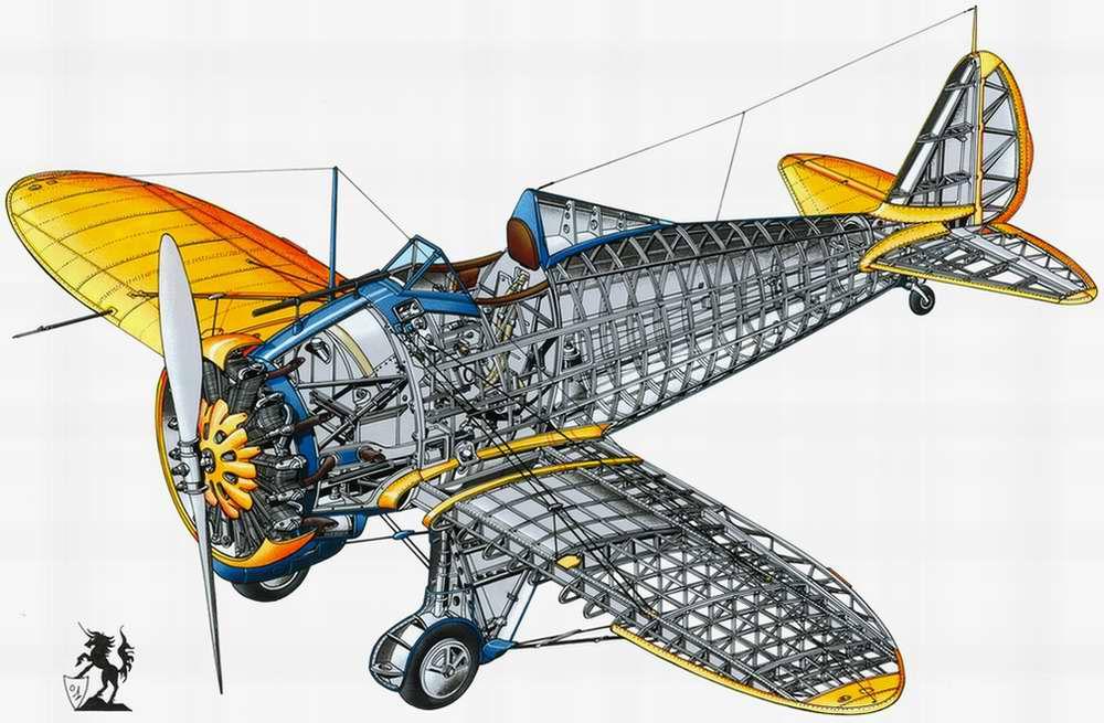 Boeing P26 Peashooter - истребитель-моноплан, 1932 год (США)