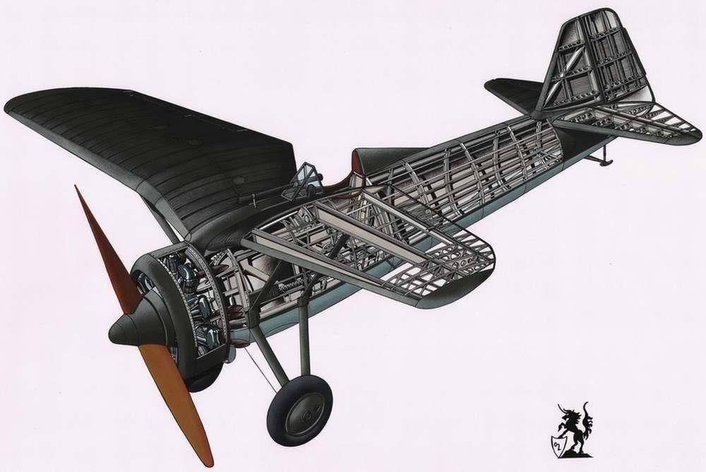 PZL P.7a - истребитель-моноплан, 1933 год (Польша)