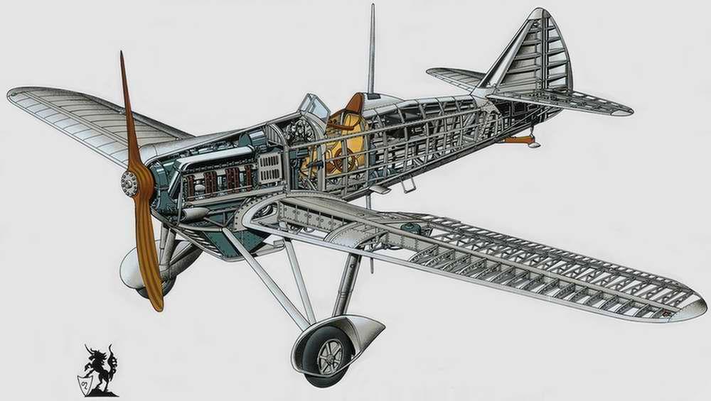 Dewoitine D.501 - истребитель-моноплан, 1935 год (Франция)