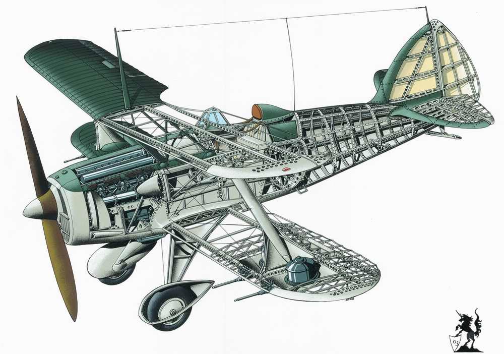 Bleriot-SPAD S.510 - истребитель-биплан, 1936 год (Франция)