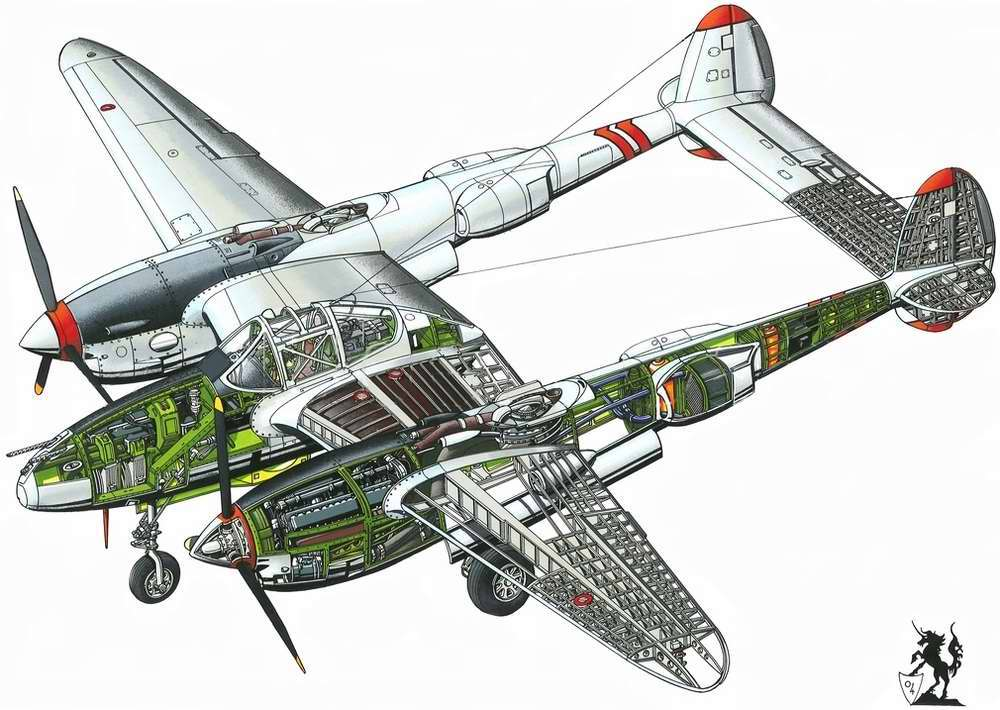 Lockheed P38 Lightning - тяжелый истребитель, 1939 год (США)