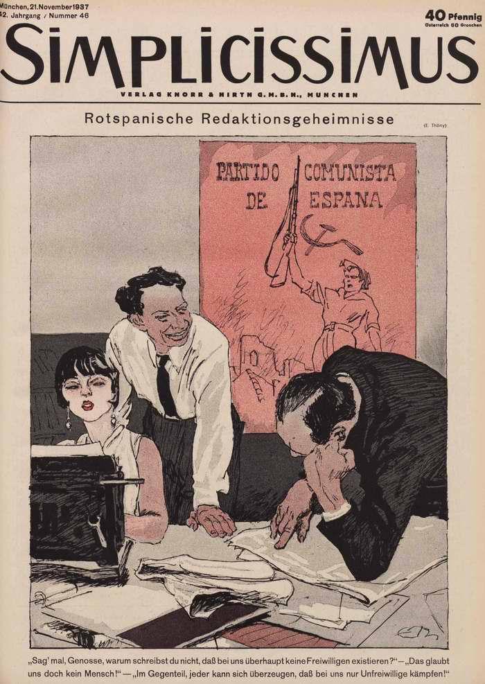 Редакционные секреты коммунистических газетных издателей республиканской Испании (Simplicissimus)