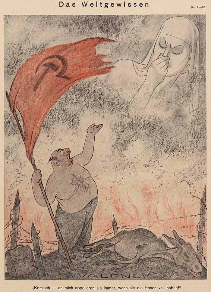 Совесть мирового сообщества (по поводу серьезных поражений Коминтерна и армии республиканской Испании в ходе гражданской войны в этой стране) (Simplicissimus)