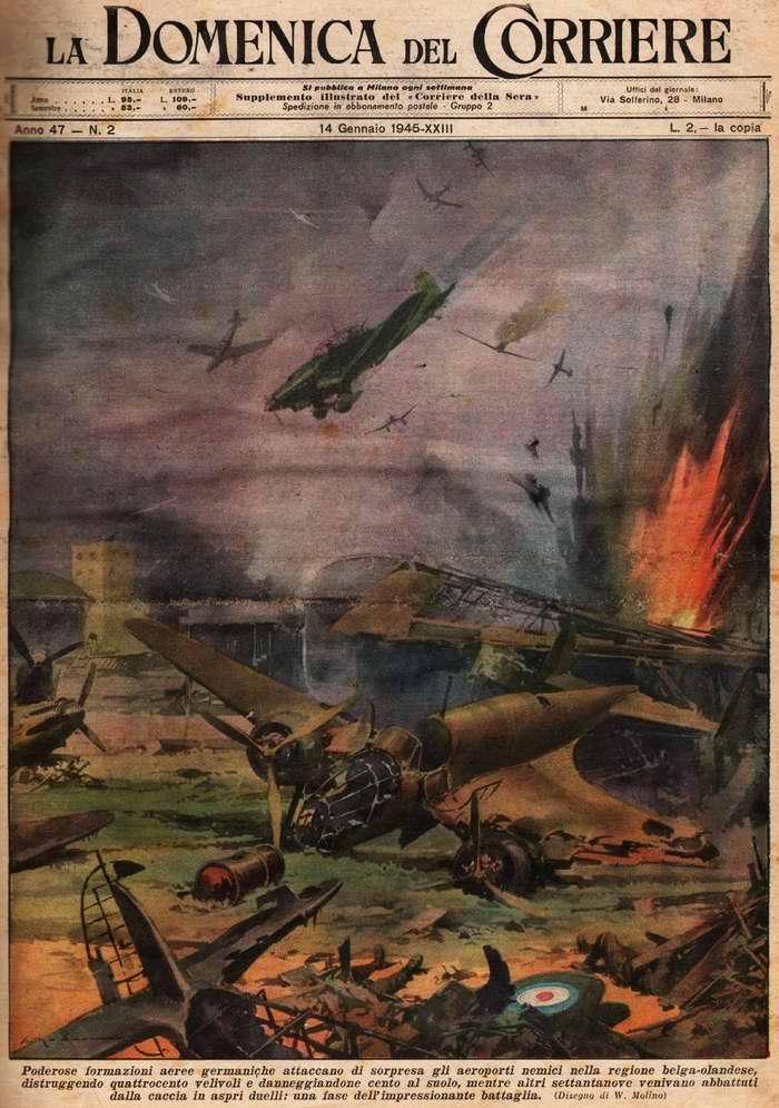 Силы немецкого люфтваффе осуществили ряд неожиданных и мощных авианалетов на аэродромы противника в районе бельгийско-нидерландской границы - Walter Molino
