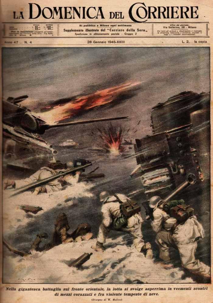 Крупномасштабные сражения и ожесточенные бои с бронированными русскими монстрами на Восточном фронте в суровых зимних условиях - Walter Molino