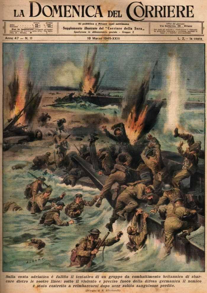 На Адриатическом побережье Италии британскими войсками была предпринята неудачная попытка высадки на берег со стороны моря - R. Albertarelli