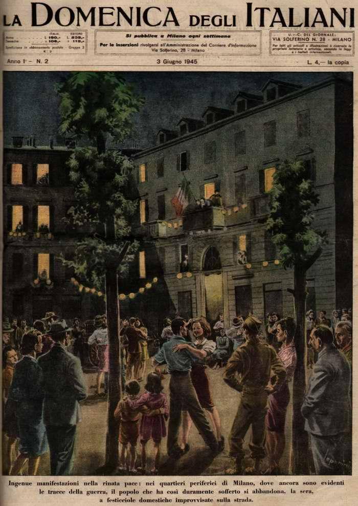 Разительные перемены происходят в возрождающихся пригородах Милана, в которых до сих пор полно свежих следов войны