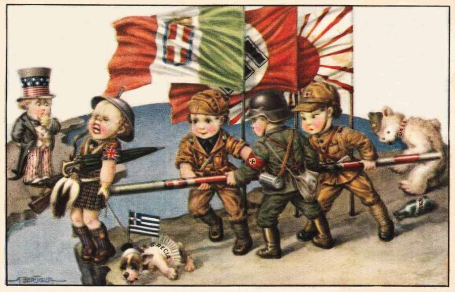 Дети в италии открытка