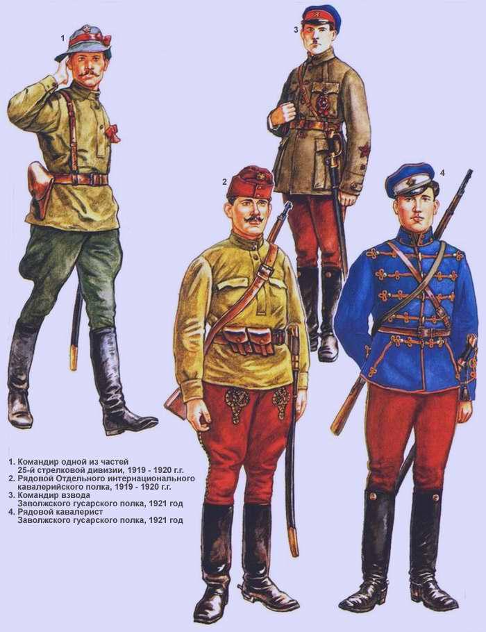Пехота и кавалерия РККА (1919 -1920 г.г.)