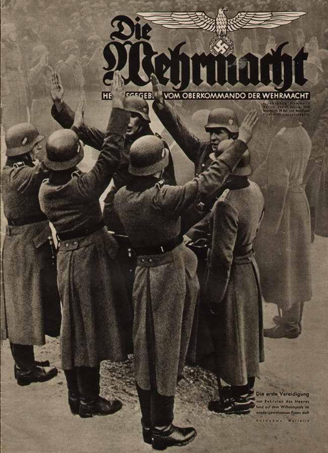 Присяга немецких новобранцев на площади Вильгельма в Берлине