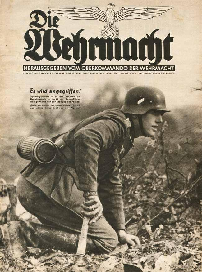 Готовы к наступлению - командир немецкой штурмовой группы в нескольких метрах от позиций противника