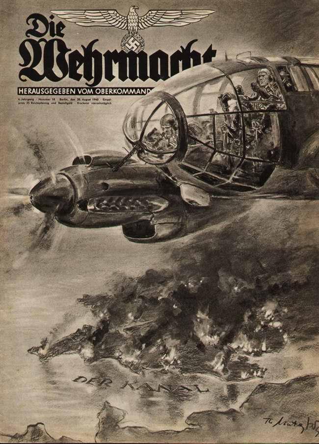 Немецкие бомбардировщики в небе над проливом Ла-Манш