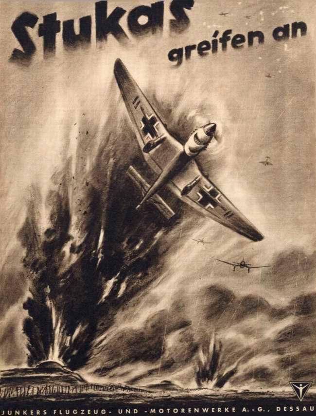 Штуки атакуют - реклама немецких бомбардировщиков Ju-87