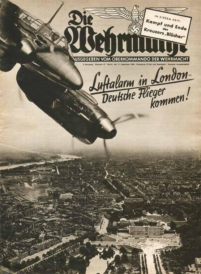 Воздушная тревога в Лондоне - налет немецких бомбардировщиков