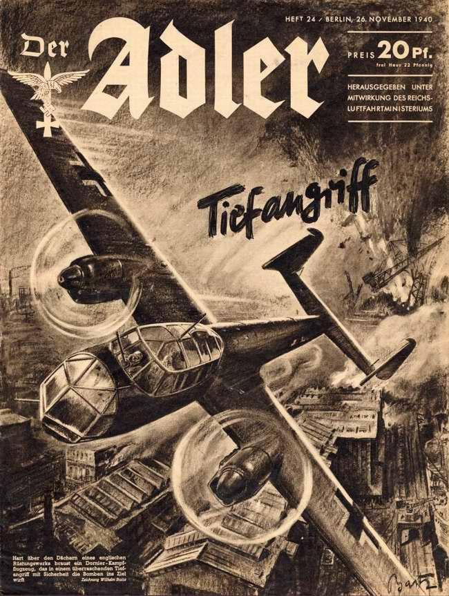 Стремительный авианалет - немецкие бомбардировщики Do-217 атакуют британскую морскую гавань