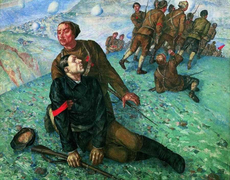 Смерть комиссара - Кузьма Петров-Водкин (1928 год)