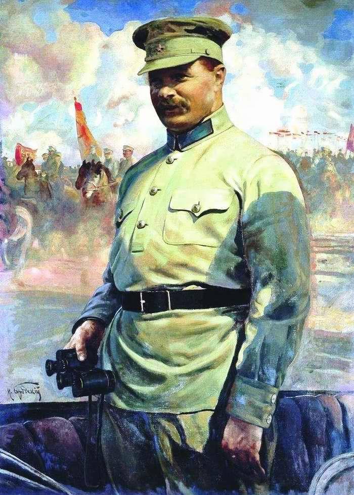 М. В. Фрунзе на маневрах - Исаак Бродский (1929 год)