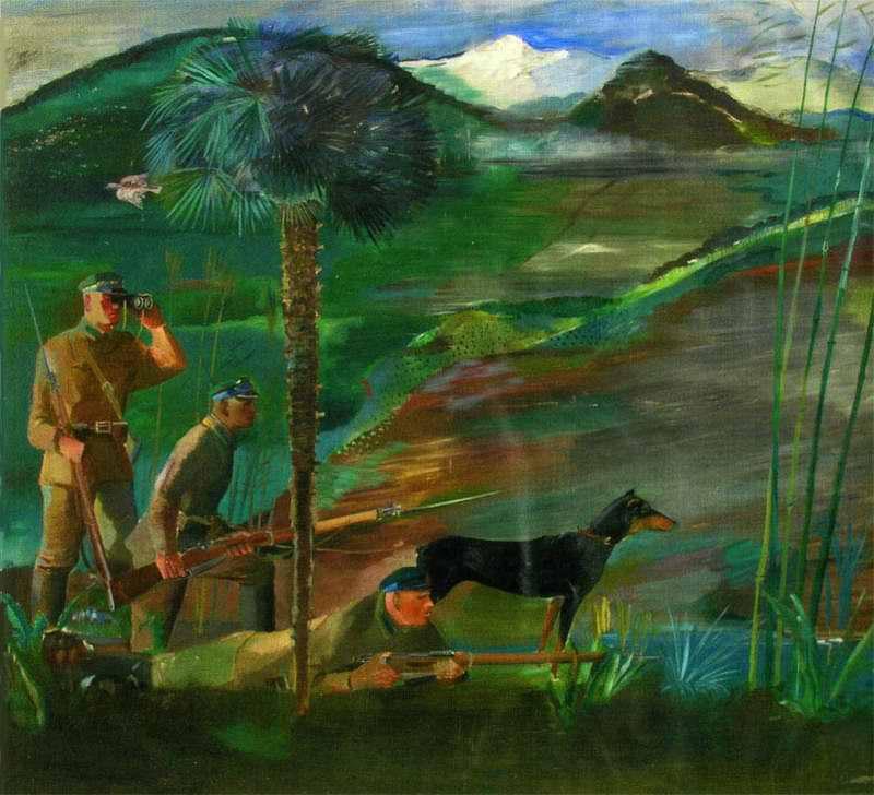 Пограничники в Батуми - Владимир Люшин (1932 год)