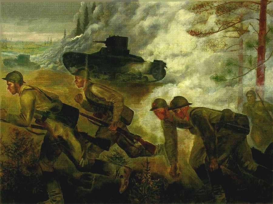 Наступление танков - Екатерина Зернова (1933 год)