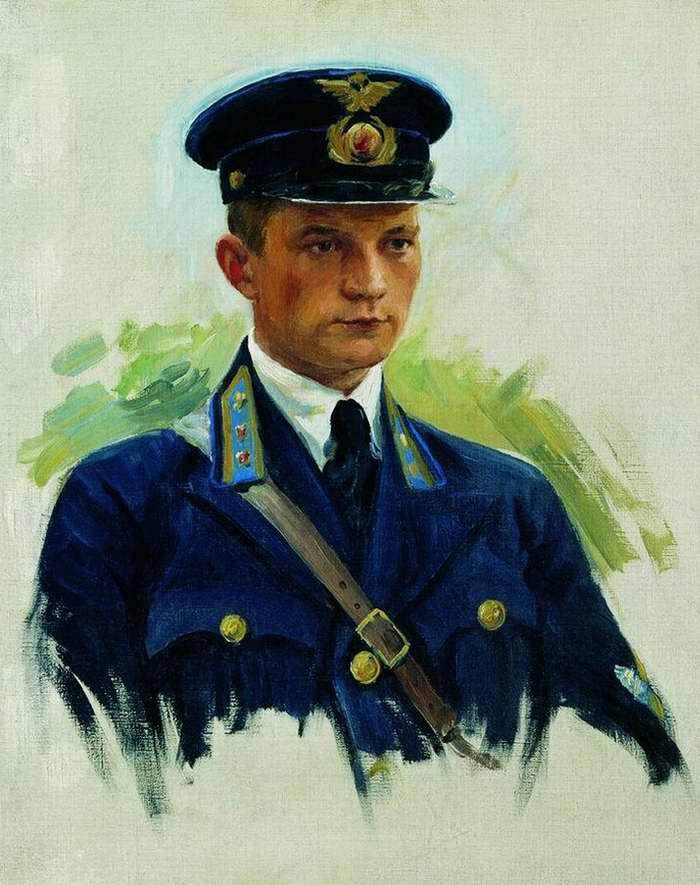 Портрет летчика Матвеева - Иван Куликов (1940 год)